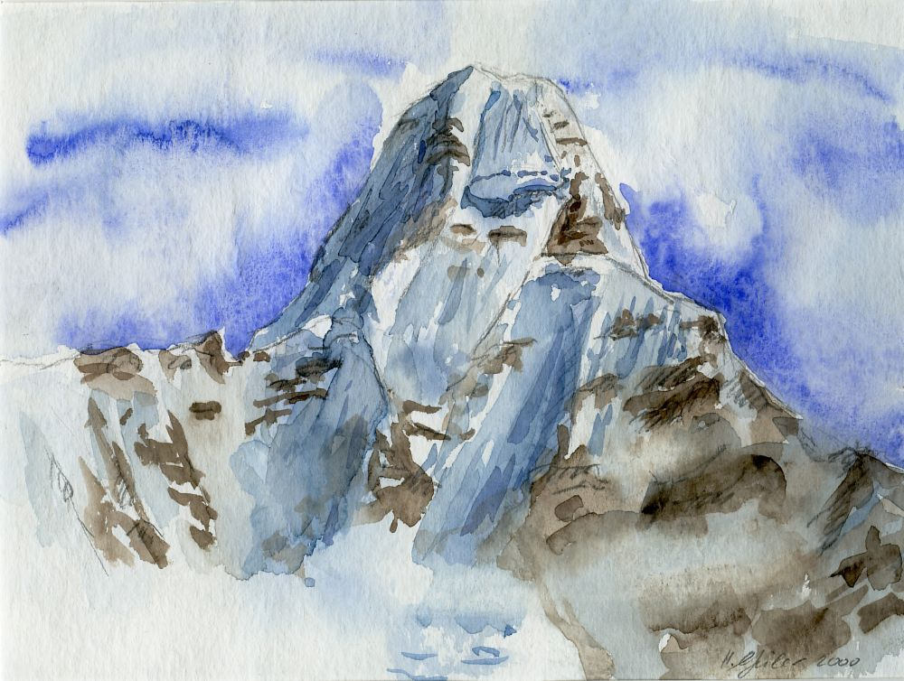 Aquarelle Berge